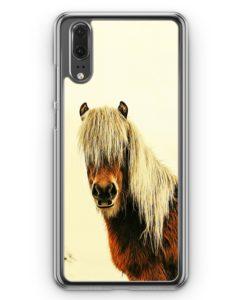Huawei P20 Hülle Hardcase - Schönes Pferd