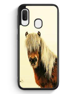 Samsung Galaxy A20e Silikon Hülle - Schönes Pferd