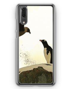 Huawei P20 Hülle Hardcase - Pinguin & Vogel