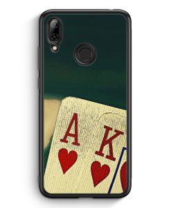 Huawei Y7 (2019) Silikon Hülle - Poker Karten