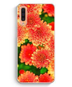 Samsung Galaxy A50 Hardcase Hülle - Rosa Blumen Landschaft