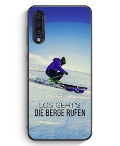 Samsung Galaxy A50 Silikon Hülle - Los Geht's Die Berge Rufen Ski