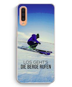 Samsung Galaxy A50 Hardcase Hülle - Los Geht's Die Berge Rufen Ski