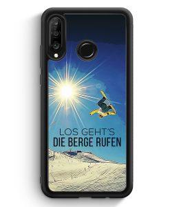 Huawei P30 Lite Silikon Hülle - Los Geht's Die Berge Rufen Snowboard