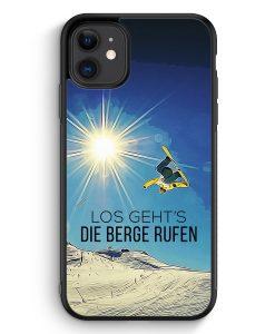 Samsung Galaxy A40 Hardcase Hülle - Los Geht's Die Berge Rufen Snowboard