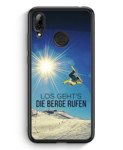 Huawei Y7 (2019) Silikon Hülle - Los Geht's Die Berge Rufen Snowboard