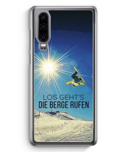 Huawei P30 Hardcase Hülle - Los Geht's Die Berge Rufen Snowboard