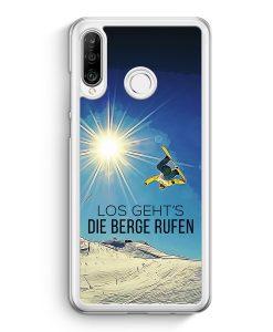 Huawei P30 Lite Hardcase Hülle - Los Geht's Die Berge Rufen Snowboard