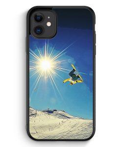 Samsung Galaxy A40 Hardcase Hülle - Snowboard Berge Landschaft