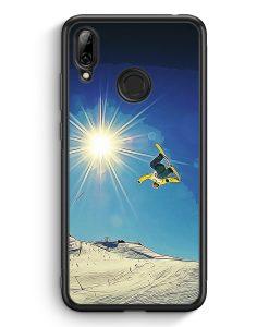 Huawei Y7 (2019) Silikon Hülle - Snowboard Berge Landschaft