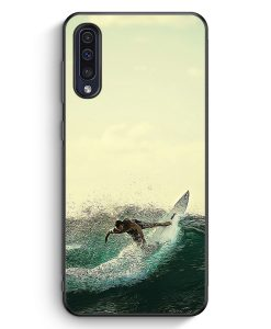 Samsung Galaxy A50 Silikon Hülle - Surfer Foto