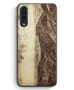 Samsung Galaxy A50 Silikon Hülle - Vintage Berge Landschaft