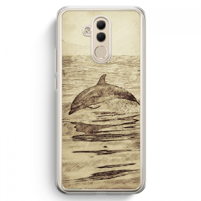 Huawei Mate 20 Lite Hardcase Hülle - Vintage Delfin Delphin