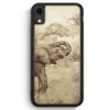 iPhone XR Silikon Hülle - Vintage Elefant Seitlich