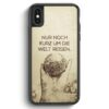 iPhone X & iPhone XS Silikon Hülle - Vintage Nur Noch Kurz Um Die Welt Reisen