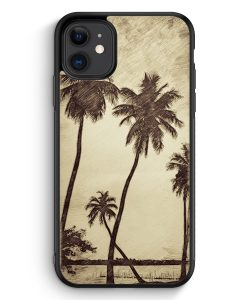 Samsung Galaxy A40 Hardcase Hülle - Vintage Palmen Landschaft