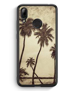 Huawei Y7 (2019) Silikon Hülle - Vintage Palmen Landschaft