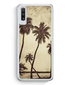 Samsung Galaxy A70 Hardcase Hülle - Vintage Palmen Landschaft