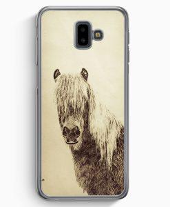 Samsung Galaxy J6+ Plus (2018) Hardcase Hülle - Vintage Schönes Pferd