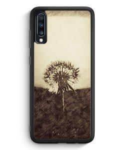 Samsung Galaxy A70 Silikon Hülle - Vintage Pusteblume
