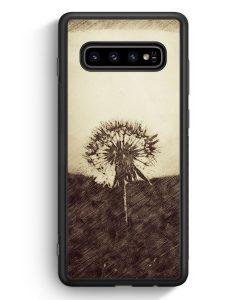 Samsung Galaxy S10e Silikon Hülle - Vintage Pusteblume