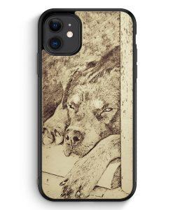 iPhone 11 Silikon Hülle - Vintage Rottweiler Hund