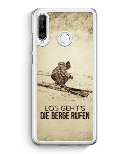 Huawei P30 Lite Hardcase Hülle - Vintage Los Geht's Die Berge Rufen Ski