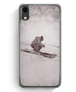 iPhone XR Hardcase Hülle - Vintage Ski