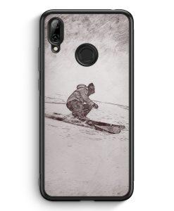 Huawei Y7 (2019) Silikon Hülle - Vintage Ski