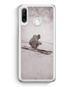 Huawei P30 Lite Hardcase Hülle - Vintage Ski