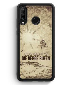 Huawei P30 Lite Silikon Hülle - Vintage Los Geht's Die Berge Rufen Snowboard