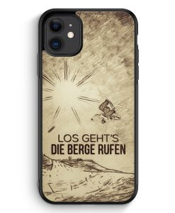 Samsung Galaxy A40 Hardcase Hülle - Vintage Los Geht's Die Berge Rufen Snowboard