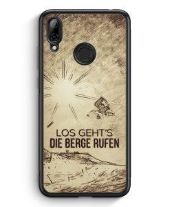 Huawei Y7 (2019) Silikon Hülle - Vintage Los Geht's Die Berge Rufen Snowboard