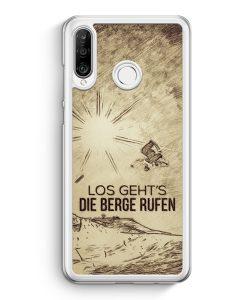 Huawei P30 Lite Hardcase Hülle - Vintage Los Geht's Die Berge Rufen Snowboard