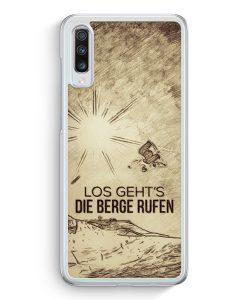 Samsung Galaxy A70 Hardcase Hülle - Vintage Los Geht's Die Berge Rufen Snowboard