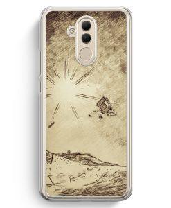 Huawei Mate 20 Lite Hardcase Hülle - Vintage Snowboard