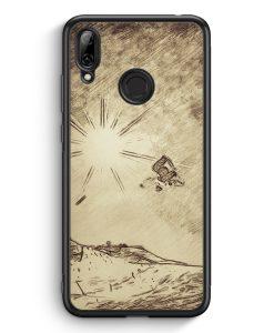 Huawei Y7 (2019) Silikon Hülle - Vintage Snowboard