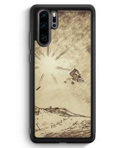Huawei P30 Pro Silikon Hülle - Vintage Snowboard