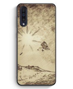 Samsung Galaxy A50 Silikon Hülle - Vintage Snowboard