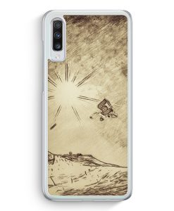 Samsung Galaxy A70 Hardcase Hülle - Vintage Snowboard