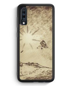 Samsung Galaxy A70 Silikon Hülle - Vintage Snowboard