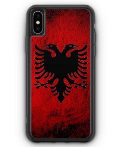 iPhone XS Max Silikon Hülle - Albanien Splash Flagge