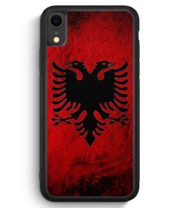 iPhone XR Silikon Hülle - Albanien Splash Flagge