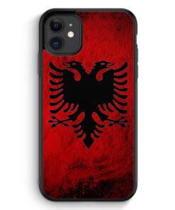 iPhone 11 Silikon Hülle - Albanien Splash Flagge
