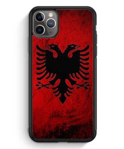 iPhone 11 Pro Silikon Hülle - Albanien Splash Flagge
