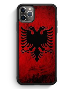iPhone 11 Pro Max Silikon Hülle - Albanien Splash Flagge