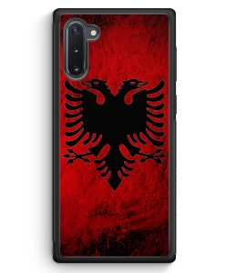 Samsung Galaxy Note 10 Silikon Hülle - Albanien Splash Flagge