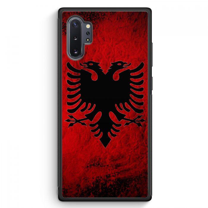 Samsung Galaxy Note 10+ Plus Silikon Hülle - Albanien Splash Flagge