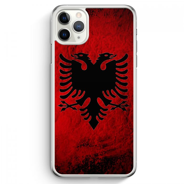 iPhone 11 Pro Max Hardcase Hülle - Albanien Splash Flagge