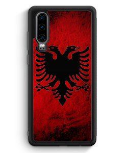 Huawei P30 Silikon Hülle - Albanien Splash Flagge